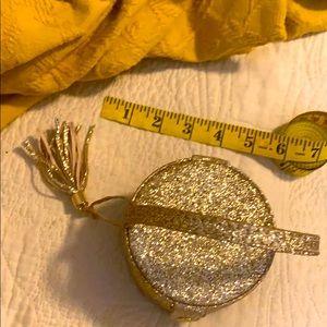 Cynthia Rowley Snap Shut Ring Storage Box GOLD